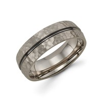Mens 14k Grey Gold Wedding Band