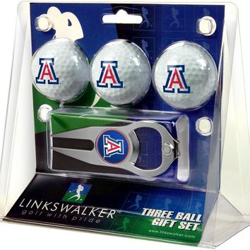 Arizona Wildcats 3 Ball Gift Pack with Hat Trick Divot Tool