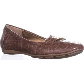 GB35 Jileese Casual Loafer Flats, Nut Croc, 8 US