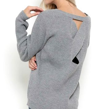 Knit X Open-Back Sweater