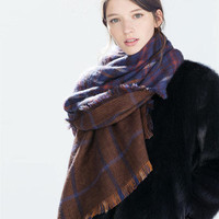 Cashmere Double Sided King Size Scarf [9572830031]