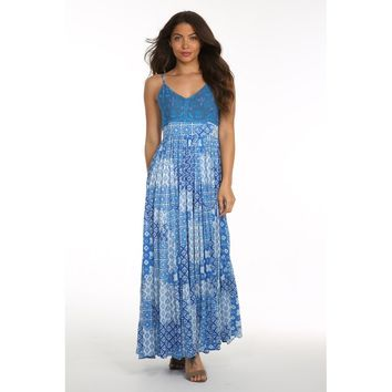 V-Neck Maxi Casual Dress