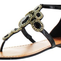 Vince Camuto Manelle Women's Gladiator Thong Sandals Jeweled