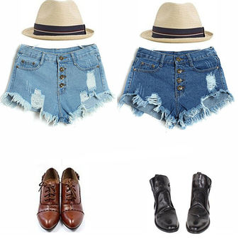 American Apparel New Real Women's Fashion Candy Color Denim Shorts Hot Jeans Summer Woman Sexy Plus Size Women Clothing