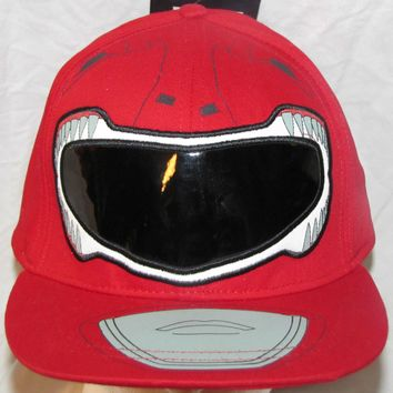 MENS BASEBALL HAT CAP LID TOP POWER RANGERS RED RANGER XL TV MOVIE SHOW NEW TAG!