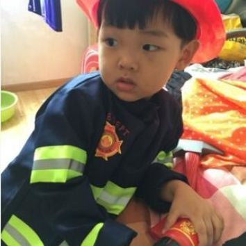 110-160 cm 2 colors 1Set Kid Child Halloween Christmas Cosplay Firefighter Fireman Costume