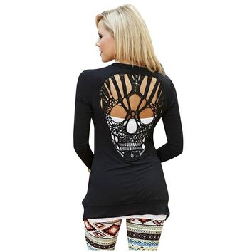Skull Knitted Long Sleeve Cardigan 5 Colors