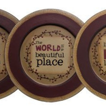 Primitive Wooden Plates - Assorted Sytle