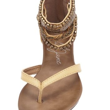 Laguna Embellished Ankle Strap Sandals