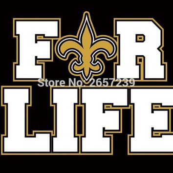 New Orleans Saints f-r life Flag 3x5FT NFL banner 100D 150X90CM Polyester brass grommets custom66, Free Shipping