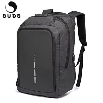 Suds Casual Anti Theft Backpack with USB Charger