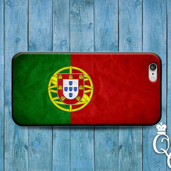 iPhone 4 4s 5 5s 5c 6 6s plus iPod Touch 4th 5th 6th Generation Green Red Country Flags Portugal Portuguese Cute Fun Flag Case Phone Cover