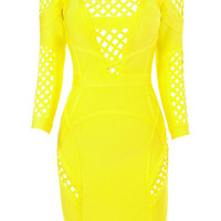 Eclipse Yellow Bandage Dress