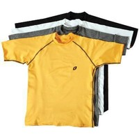 Ironclad AFL-1040-L First Layer Wicking Raglan Short Sleeved Shirt Yellow large