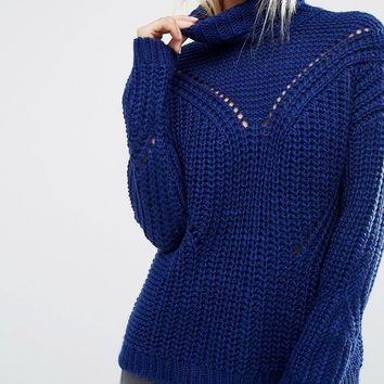 ASOS Jumper with Moving Rib