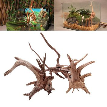 1PC Wood Fish Tank Driftwood Natural Tree Trunk Driftwood Aquarium Fish Tank Plant  Aquario Aquarium Decoration