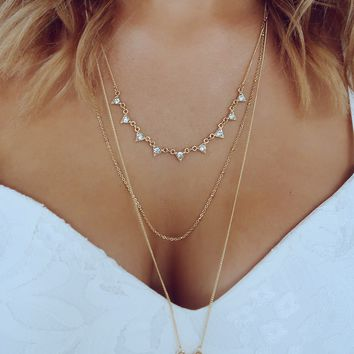 Time Stands Still Necklace: Gold/Marble