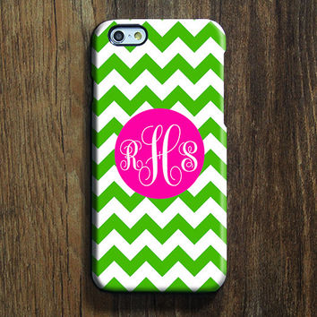 Green Chevron Monogram iPhone 6s 6 Case iPhone 6 plus Case Custom iPhone 5S Case iPhone 5C Case iPhone 4S Case Galaxy S6 Edge S5 Case 114