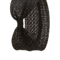 Open Knit Turban Head Wrap by Charlotte Russe