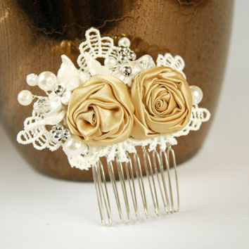 Lace bridal hair comb, Wedding  hair comb, Pearl hair comb, Lace hair comb,Lace wedding hair comb, Bridal headpiece, Wedding hadpiece