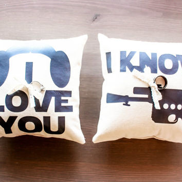 Star Wars Ring Bearer Pillows - 2 Pillows Included