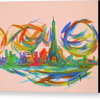 Paris Twist Canvas Print
