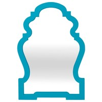 Jonathan Adler Queen Anne Mirror-Teal