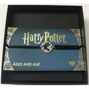 Alex Ani Harry Potter Ravenclaw Pull Cord Bracelet New