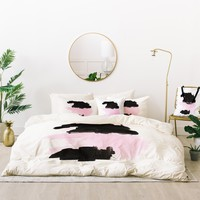 Viviana Gonzalez Minimal black and pink III Bed In A Bag | Deny Designs
