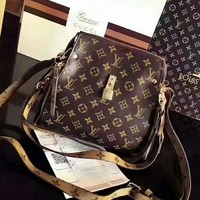 LV Women Shopping Leather Crossbody Satchel Shoulder Bag H-AGG-CZDL