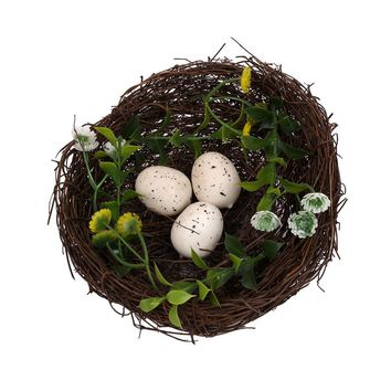Plastic Rattan Bird Nest Pet Birds Cage Craft Miniature Marriage Wedding Decoration Photography Photobooth Props Birdhouse