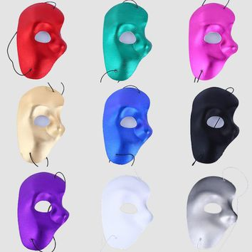 New Mask righ Half Face Phantom Of The Night Opera Men Women Masks Masquerade Party Masked Ball masks Halloween supplies SN1754