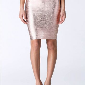 Stand Out Bandage Midi Skirt