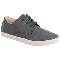 TOMS Paseo Synthetic Leather Black Black Sneaker