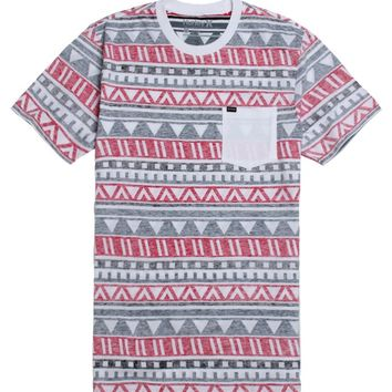 Hurley Tribe Reverse Print T-Shirt - Mens Tee - Red