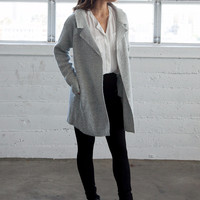 Grey Cardigan Coat