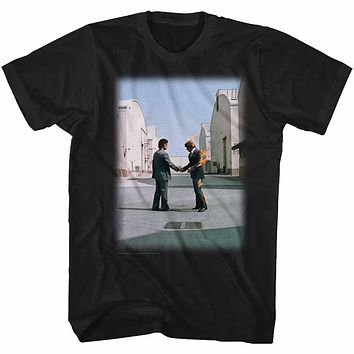 Pink Floyd T-Shirt Wish You Were Here Album Cover Black Tee