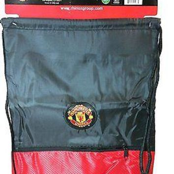 MANCHESTER UNITED BACKPACK Soccer Book Bag Gym cinch * Authentic Official