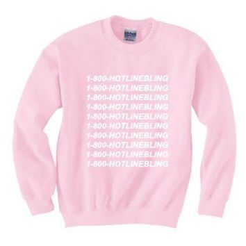 PEAPJ1A [1-800 hotline bling] sweater pink new personalized letters sweater