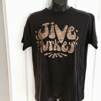Vintage 1970s Jive Turkey t-shirt glitter graphic 50/50