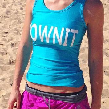 #OWNIT - Blue - Beach Fitness Tank Top