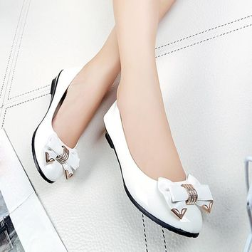 Spring Autumn Toe Flat Heel Bow Tie Shoes Women Fashion Women's Flat Shoes Comfystyle