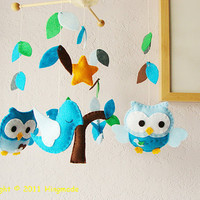 Baby Nursery Mobile Baby Crib Mobile Hanging Baby by hingmade