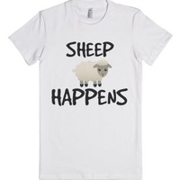 """sheep happens""-Female White T-Shirt"
