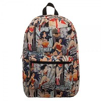 DC Comics Womens Wonder Woman AOP Backpack