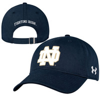 Notre Dame Fighting Irish Under Armour Women's Relaxed Adjustable Hat - Navy Blue