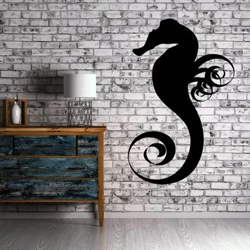 Wall Stickers Vinyl Decal Sea Horse Fish Ocean Marine Cool Decor Unique Gift (EM428)