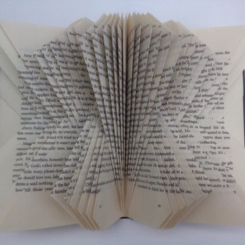 Folded Book Art, Folded Pages, Recycled, Upcycled, Repurposed