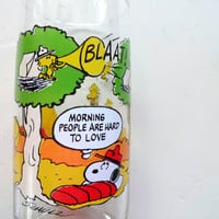 Vintage Camp Snoopy Drinking Glass 1980s