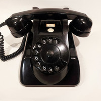 Black Rotary Phone -PTT Holland WORKING